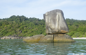 Felsformation Boulder Bay Eco Resort Mergui Archipel Myanmar