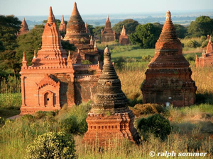 Stupas in Bagan Myanmar