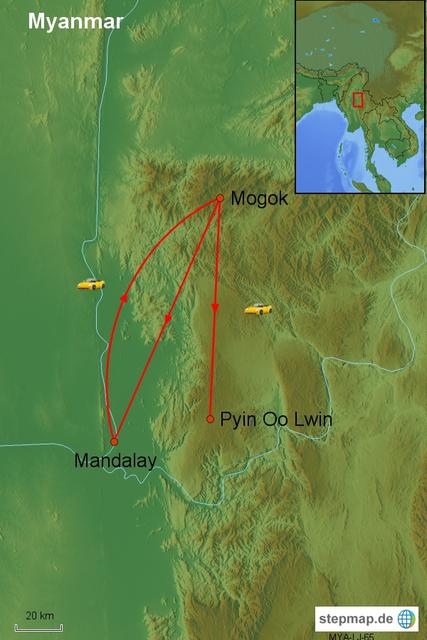 Spannende Tour Mogok/Myanmar: Tal der Rubine, 3 Tage