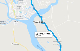 Google Map Syriam Myanmar