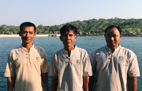 Team Boulder Bay Eco Resort Mergui Archipel Myanmar